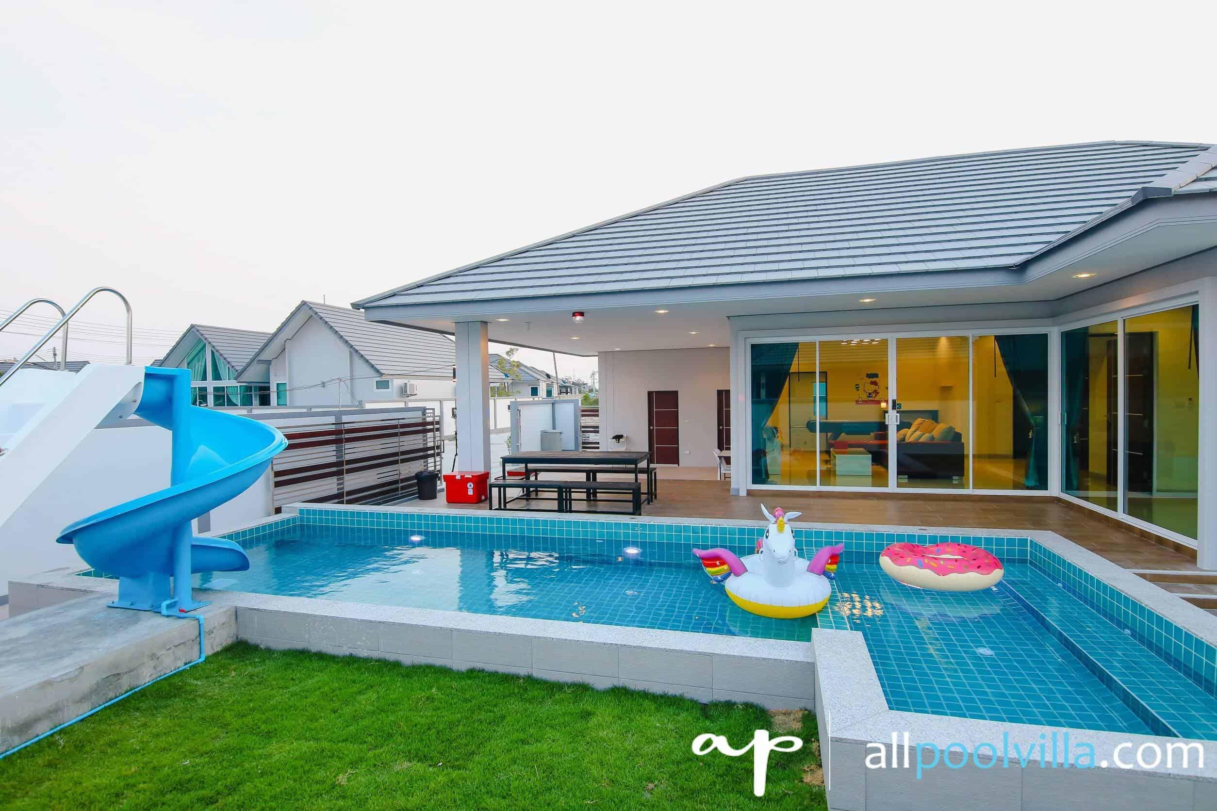 บรรยากาศบ้านพัก Marine-K Pool Villa ชะอำ-1