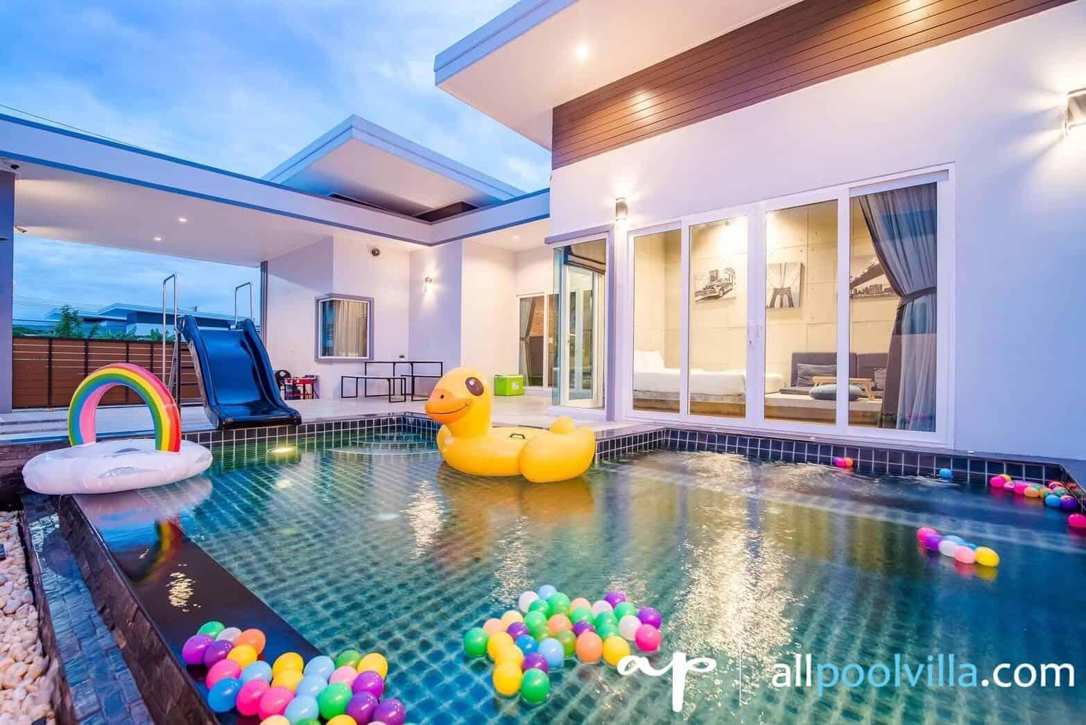 บรรยากาศบ้านพัก Garden Loft 25 Pool Villa หัวหิน-1