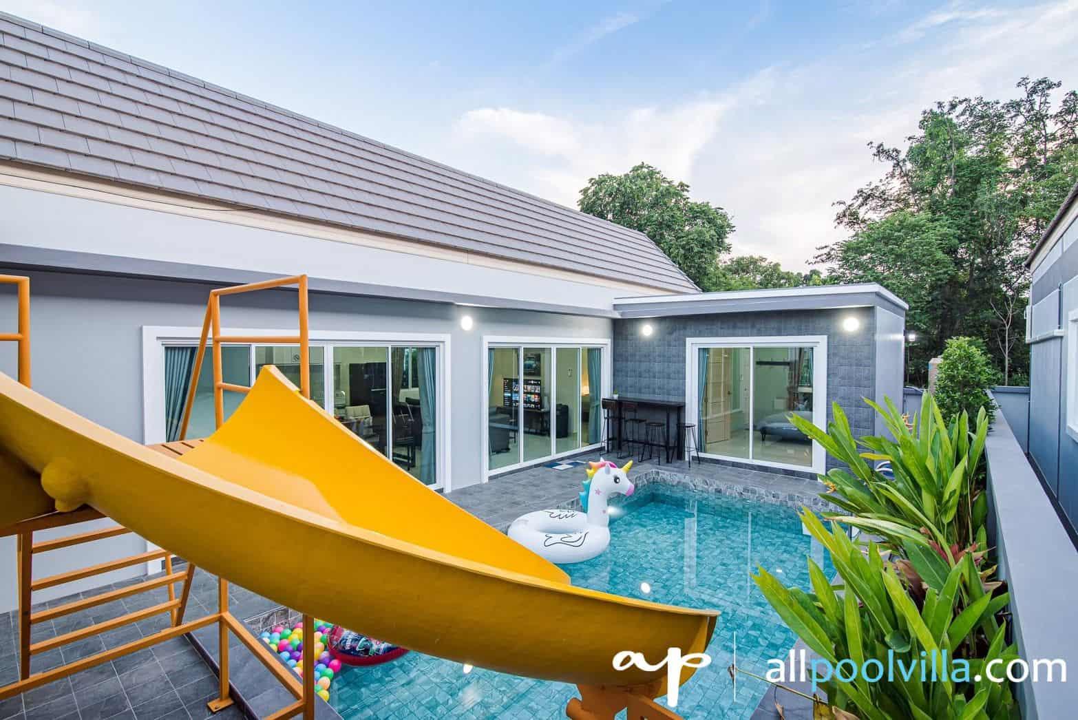 บรรยากาศบ้านพัก Disney Pool Villa หัวหิน-1